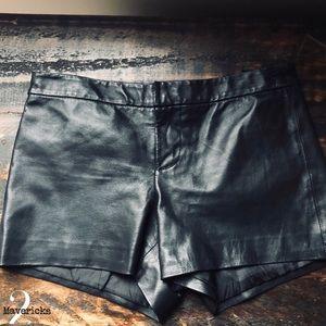 f1df4e56d4c BB Dakota Black Leather Shorts